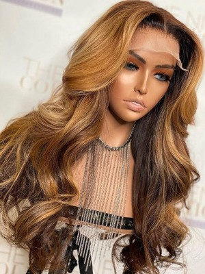 YSwigs Wavy Virgin Brazilian Human Hair Undetectable Dream HD Lace 13*6 Lace Front Wigs with Baby Hair ys4231