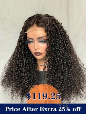 YSwigs Curly Undectable Invisible Lace Glueless HD 13x6 Frontal Human Hair  WD001