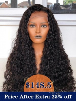 YSwigs Undetectable 13×6 HD Lace Deep Curly Virgin Brazilian Human Hair Wig CLS-2