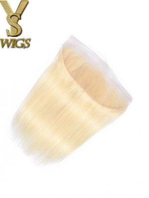 YSWIGS HD Lace 613 Blonde Straight Hair Closure Brazilian Hair 13x4 Lace Frontal Closure 100% Remy Human Hair 613