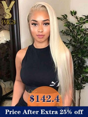 YSwigs Blonde Lace Front Undetectable Dream HD Lace Virgin Human Hair Wigs YS0527