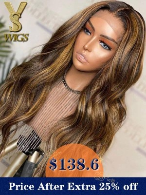 YSwigs Ombre Loose Wave Undetectable Dream HD lace Pre Plucked Human Hair 360 Lace Wig GX001