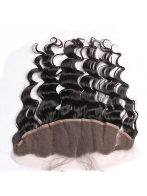 13X4 Pre Plucked Loose Wave 100 Virgin Human Hair Lace Frontal Closure 130% Lace Closure C3