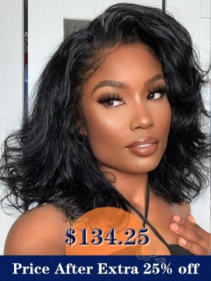 YSwigs Undetectable Dream HD Lace Bob Style Natural Wave 13x6 Lace Front Human Hair Wigs