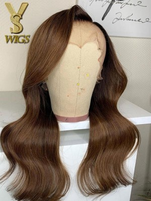 YSwigs Undetectable HD Lace Ombre Brown Brazilian Human Hair Wig CLS-17