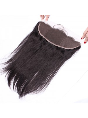 13X4 Pre Plucked Straight 100 Virgin Human Hair Lace Frontal Closure 130% Lace Closure C1