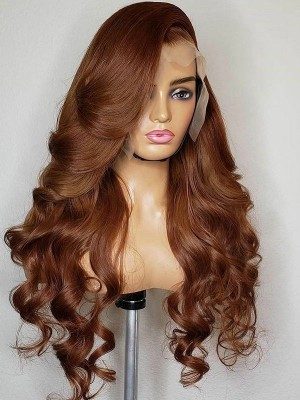 YSwigs Brazilian Loose Wave 360 Lace Frontal Wig Pre Plucked Huaman Hair Wigs HD Lace Front Wig For Women YS615