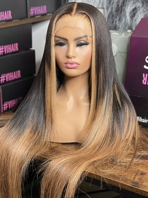 YSwigs 13X6 Lace Frontal Wigs Human Hair Wig Undetectable Dream HD Lace Silky Straight Baby Hair Around HX724