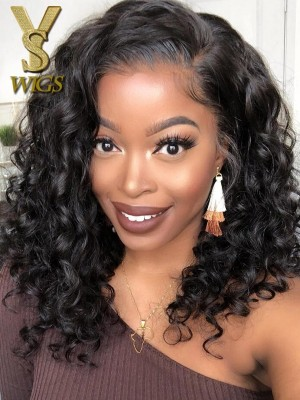 YSwigs 200% Density Undetectable Dream HD Lace 360 Lace Frontal Human Hair Wigs Bouncy Curls