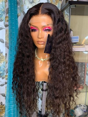 YSwigs Lace Frontal Wig Undetectable Dream HD Lace Curly Human Hair Brazilian Virgin Hair Baby Hair HXQ224