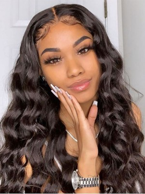 YSwigs Human Hair Wigs Undetectable Dream HD Lace Loose Wave 360 Lace Frontal Wig HXQ012