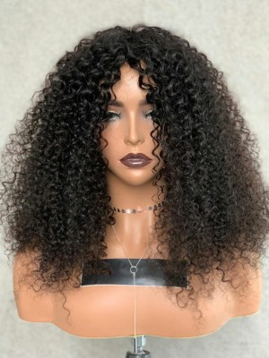 YSwigs Kinky Curly Wig 13x6 Short Curly HD Lace Front Human Hair Wigs for Women YS006