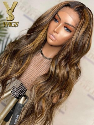YSwigs Ombre Loose Wave Undetectable Dream HD lace Pre Plucked Human Hair 360 lace wig DS8