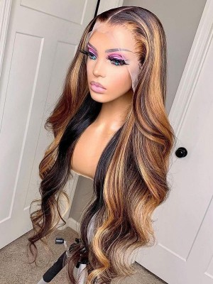 YSwigs Undetectable Dream HD Full Lace Ombre Highlight Virgin Brazilian Human Hair Wig Pre-Plucked Lace Front Wig