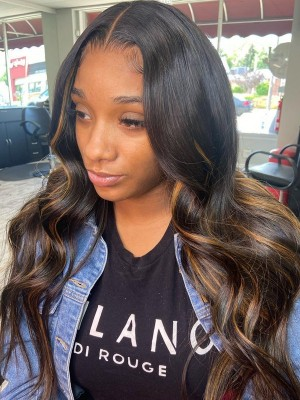 YSwigs Undetectable Dream HD Lace Loose Wave Virgin Human Hair Highlight 13×6 Lace Front Wig GX021