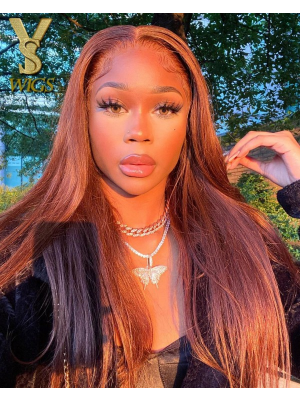 YSwigs Undetectable Dream HD Lace Pre Plucked Light Brown Sliky Straight Lace Front Wigs for Black Women YS003