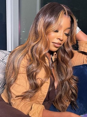 YSwigs Undetectable HD Lace Body Wave Ombre Virgin Brazilian Human Hair Wig CLS-3