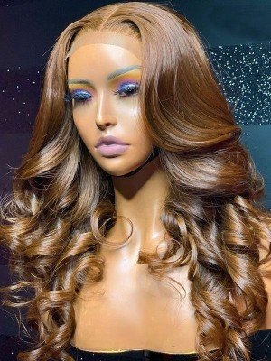 YSwigs Undetectable HD Lace Brown Hair Virgin Brazilian Human Hair Wig CLS-10