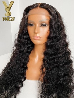 YSwigs Undetectable HD Lace Deep Wave Virgin Brazilian Human Hair Wig CLS-4
