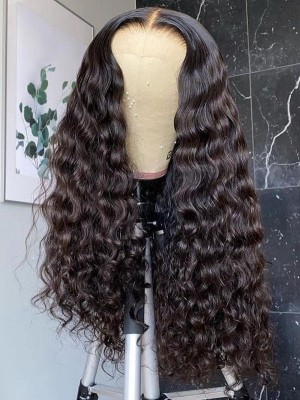 YSwigs Undetectable HD Lace Natural Wave Brazilian Human Hair Wig CLS-18