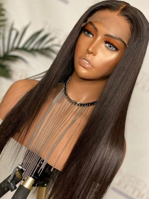 YSwigs Undetectable HD Lace Silky Straight Virgin Brazilian Human Hair Wig CLS-6
