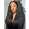YSwigs Kinky straight Yaki Pre-Plucked Undetectable Dream HD Lace Hairline Human Hair Lace Front Wigs QJF009