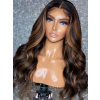 YSwigs Undetectable Dream HD Lace Mix Color Highlight Body Wave Lace Frontal Wig GX622