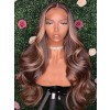 YSwigs Wavy Virgin Brazilian Human Hair Undetectable Dream HD Lace 136 Lace Front Wigs with Baby Hair ys423