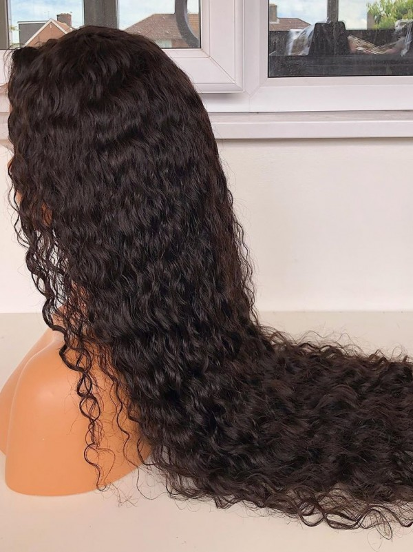 YSwigs Undetectable HD Lace Deep Curly Virgin Brazilian Human Hair Wig CLS-2