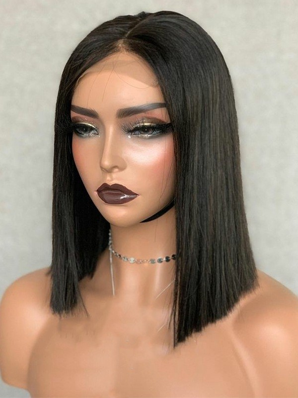 YSwigs Short Bob Wigs Straight Pre Pluck With Baby Hair 13x6 HD Lace Front Wig Glueless Lace Wig GX02083
