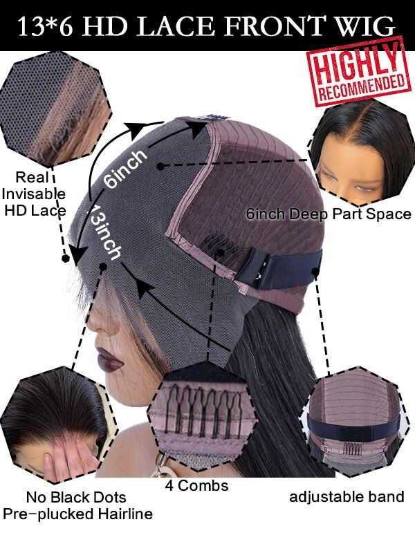 HD 13x6 lace frontal wigs