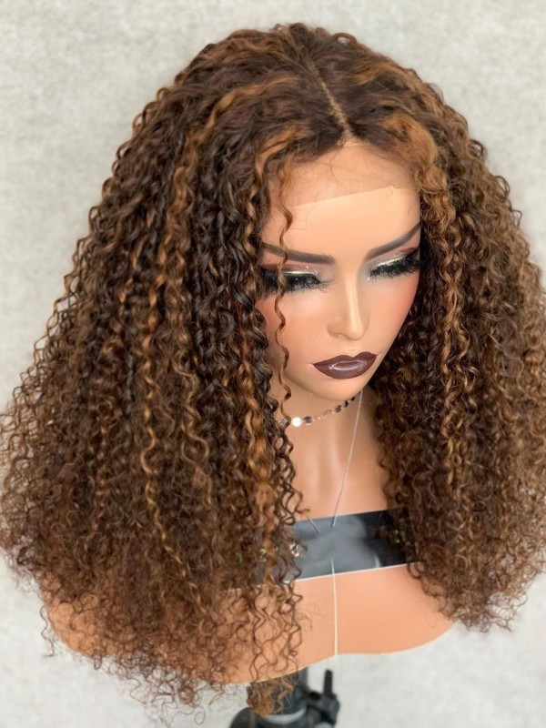 YSwigs 13x6 HD Lace Front Kinky Curly With Baby Hair Brazilian Human Hair Skin Melt Invisible HD Lace