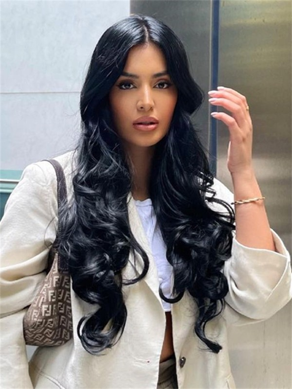 YSwigs Natural Wave Undetectable Dream HD Lace 360 Lace Human Hair Wig GX02085