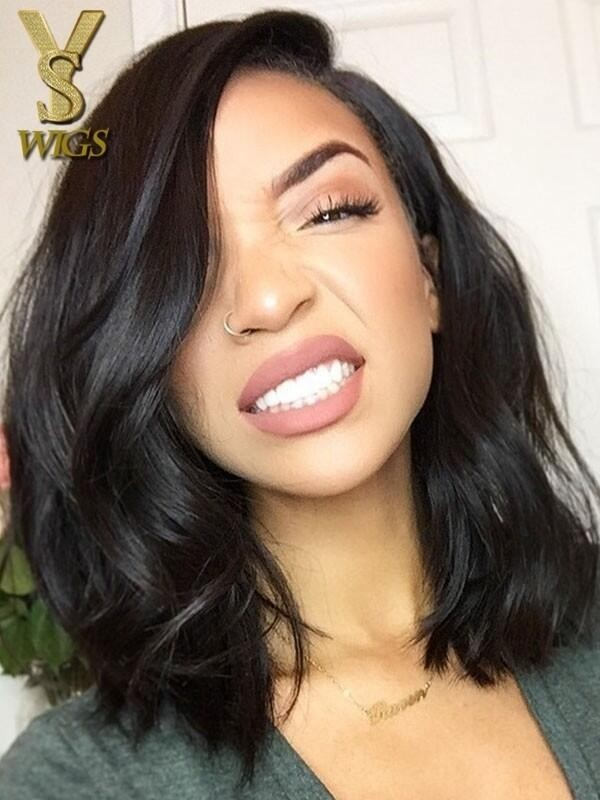 YSwigs Undetectable Dream HD Lace Bob Style Natural Wave 13*6 Lace Front Human Hair Wigs GX017