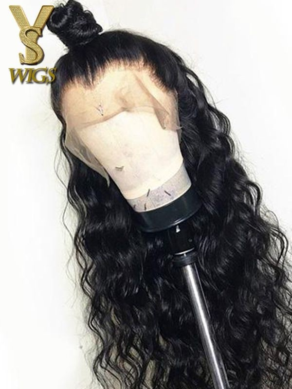 YSwigs Virgin Human Hair Undetectable Dream HD Lace Natural Wave Lace Frontal Wig