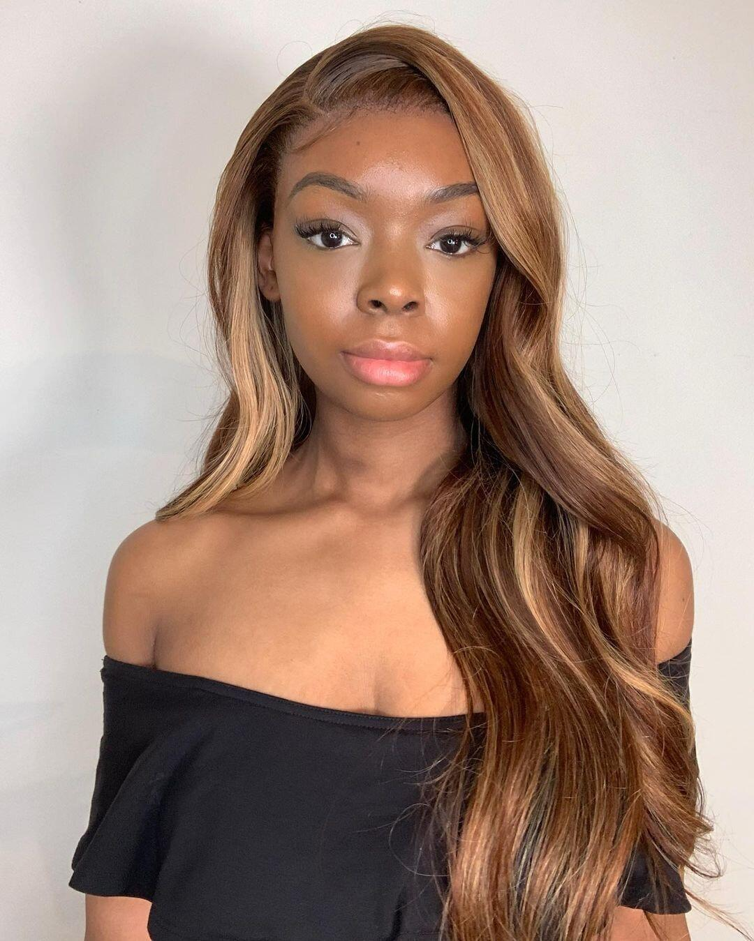 hair is very beautiful, the delivery came very very fast! hair is nice soft and shiny and long. quality is good and healthy. will definitely be ordering again I shall say.the wig looks just like the pictures its so pretty and soft. the communication with