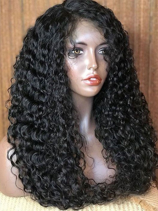 Kinky Curly 360 Lace Wigs 200% Density 24inch Sale558