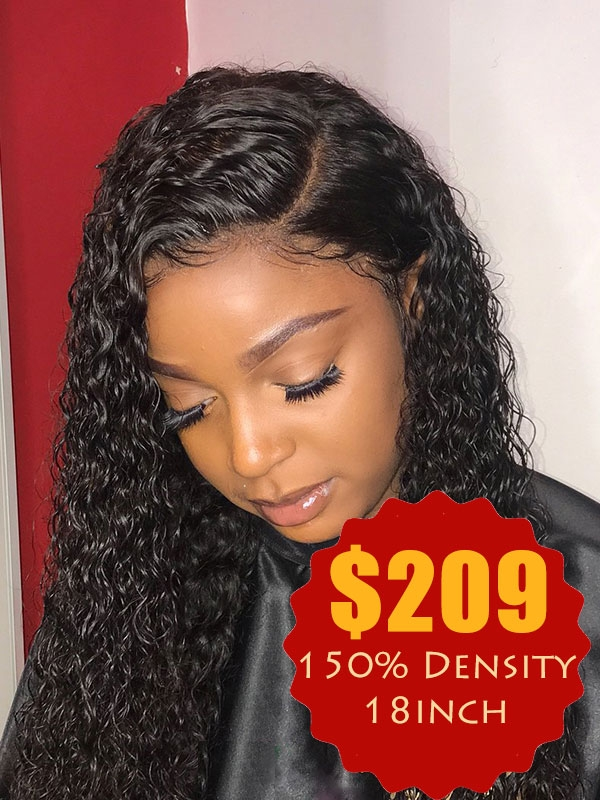 Kinky Curly Full Lace Wig 150% Density 18inch'' Sale528